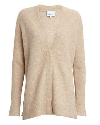Lofty V-Neck Cardigan, BEIGE, hi-res