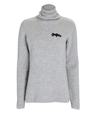 Outlaw Boiled Cashmere Turtleneck Sweater, GREY, hi-res