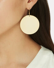 Disc Earrings, GOLD, hi-res