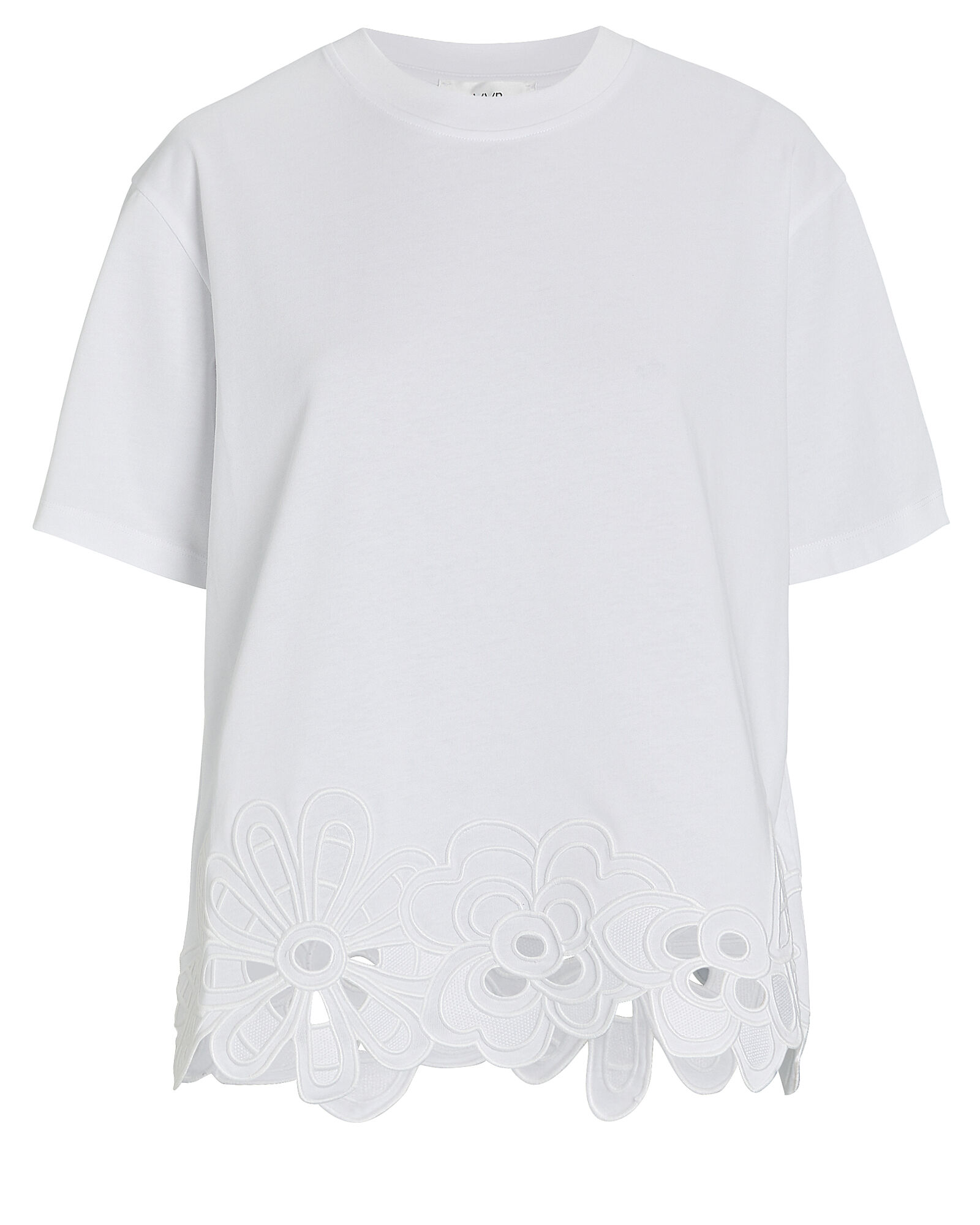 Embroidered Cotton T-Shirt, WHITE, hi-res