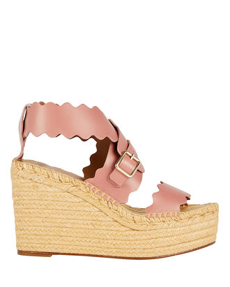 Lauren Scalloped Espadrilles, PINK, hi-res