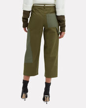 Olive Wide Leg Cargo Pants, OLIVE/ARMY, hi-res
