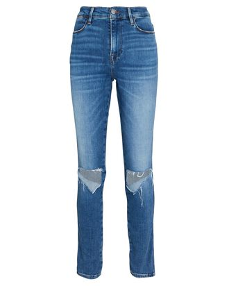 Le High Skinny Jeans, TRIPLE NEEDLE DISTRESSED, hi-res