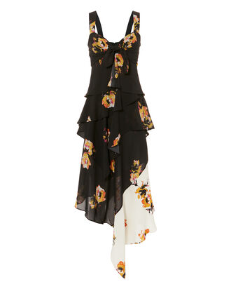 Natalia Two-Tone Floral Dress, MULTI, hi-res