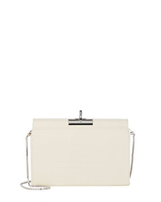 Luxy Croc-Embossed Box Bag, IVORY, hi-res