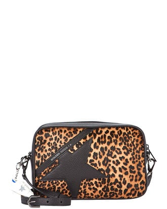 Logo Star Leopard Crossbody Bag, BROWN, hi-res
