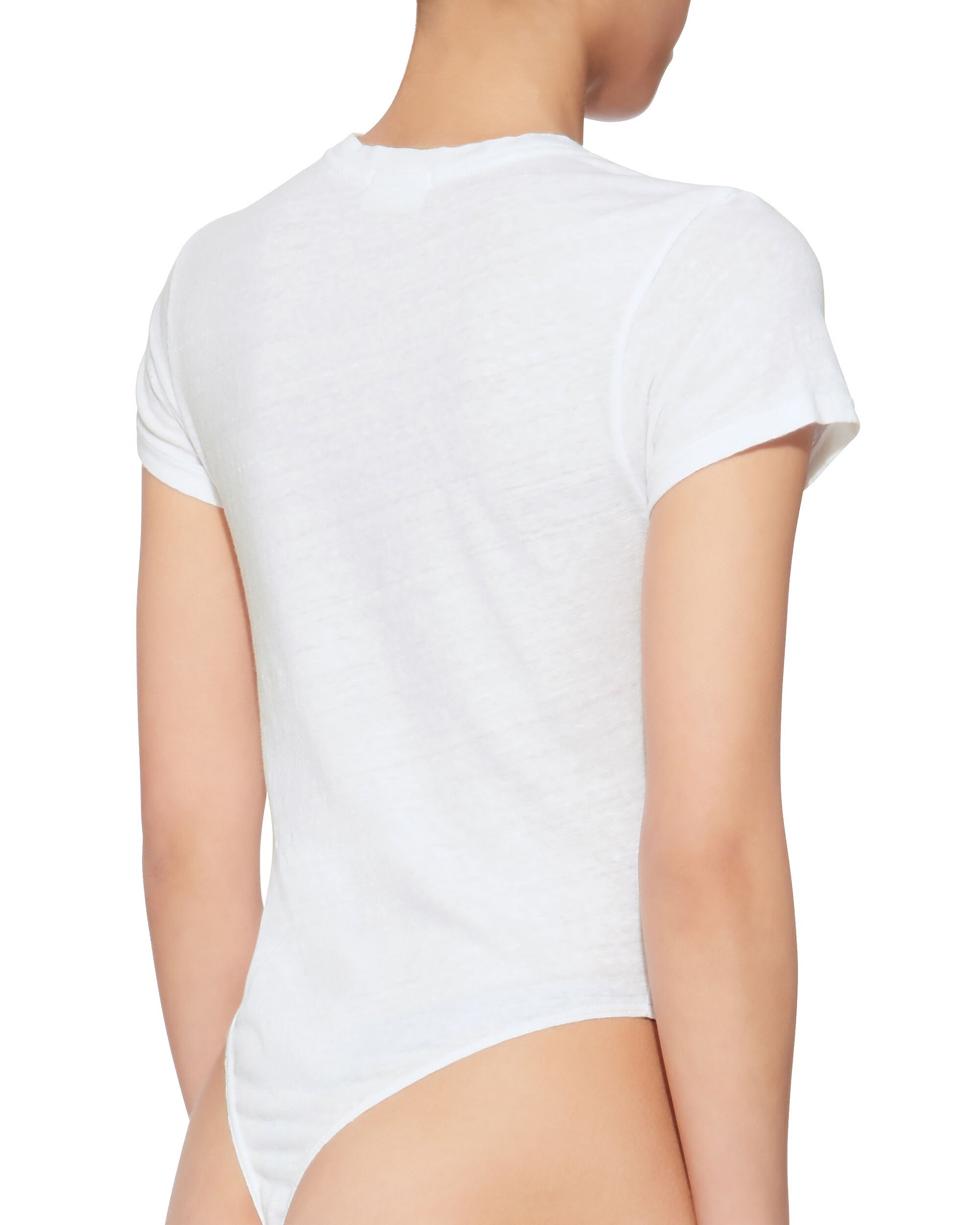 White Tee Bodysuit, WHITE, hi-res