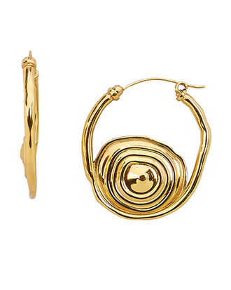 Pop Hoop Earrings, GOLD, hi-res