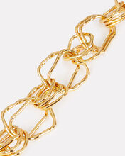 Hammered Gold Link Necklace, GOLD, hi-res