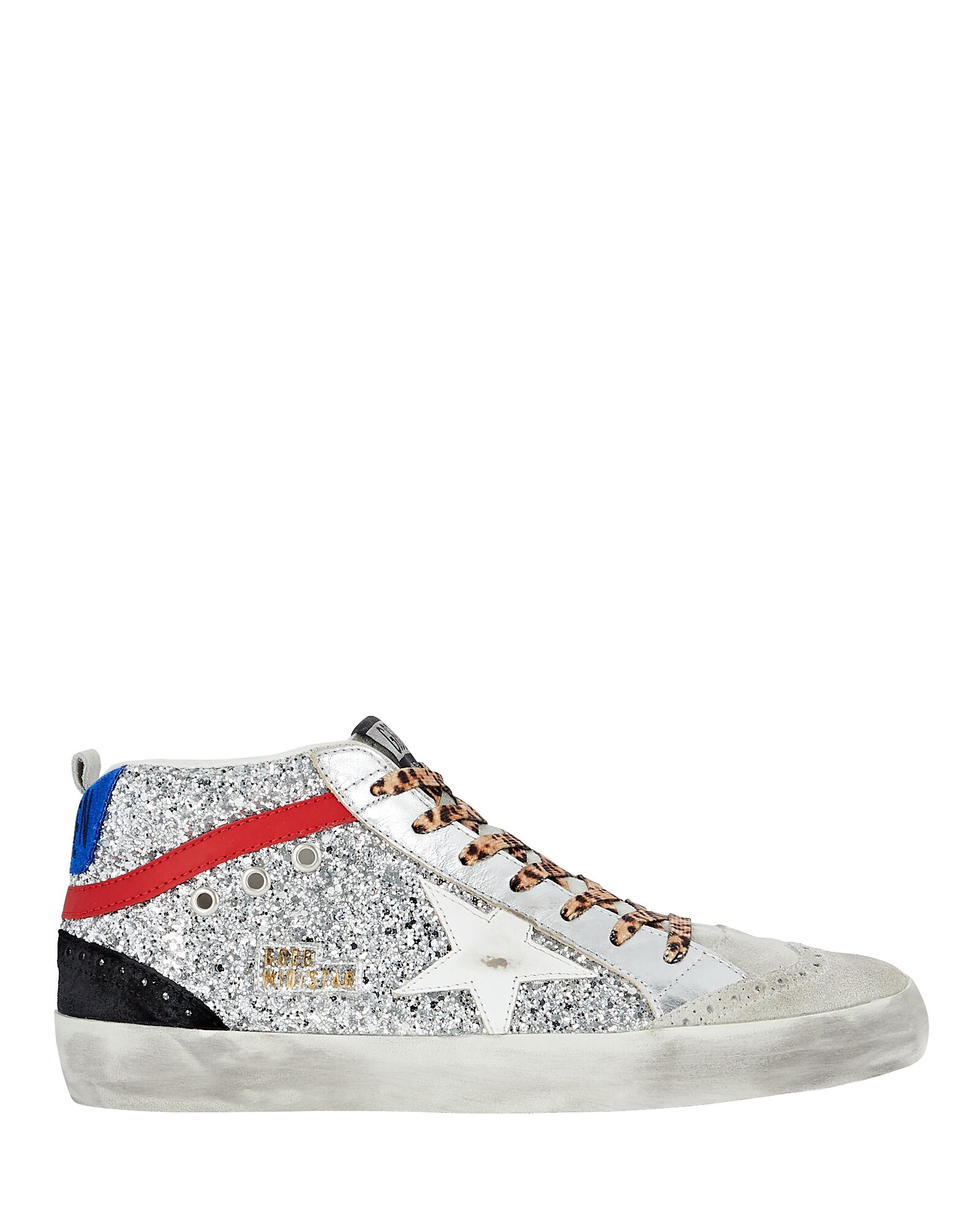 Mid Star Glitter Sneakers, SILVER, hi-res