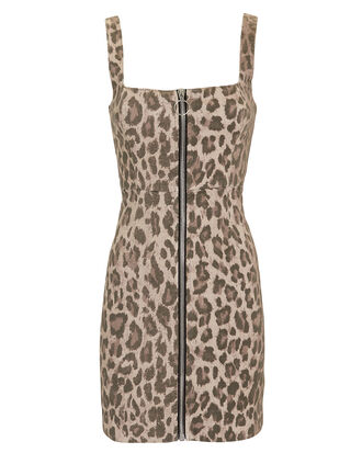Leopard Mini Dress, MULTI, hi-res
