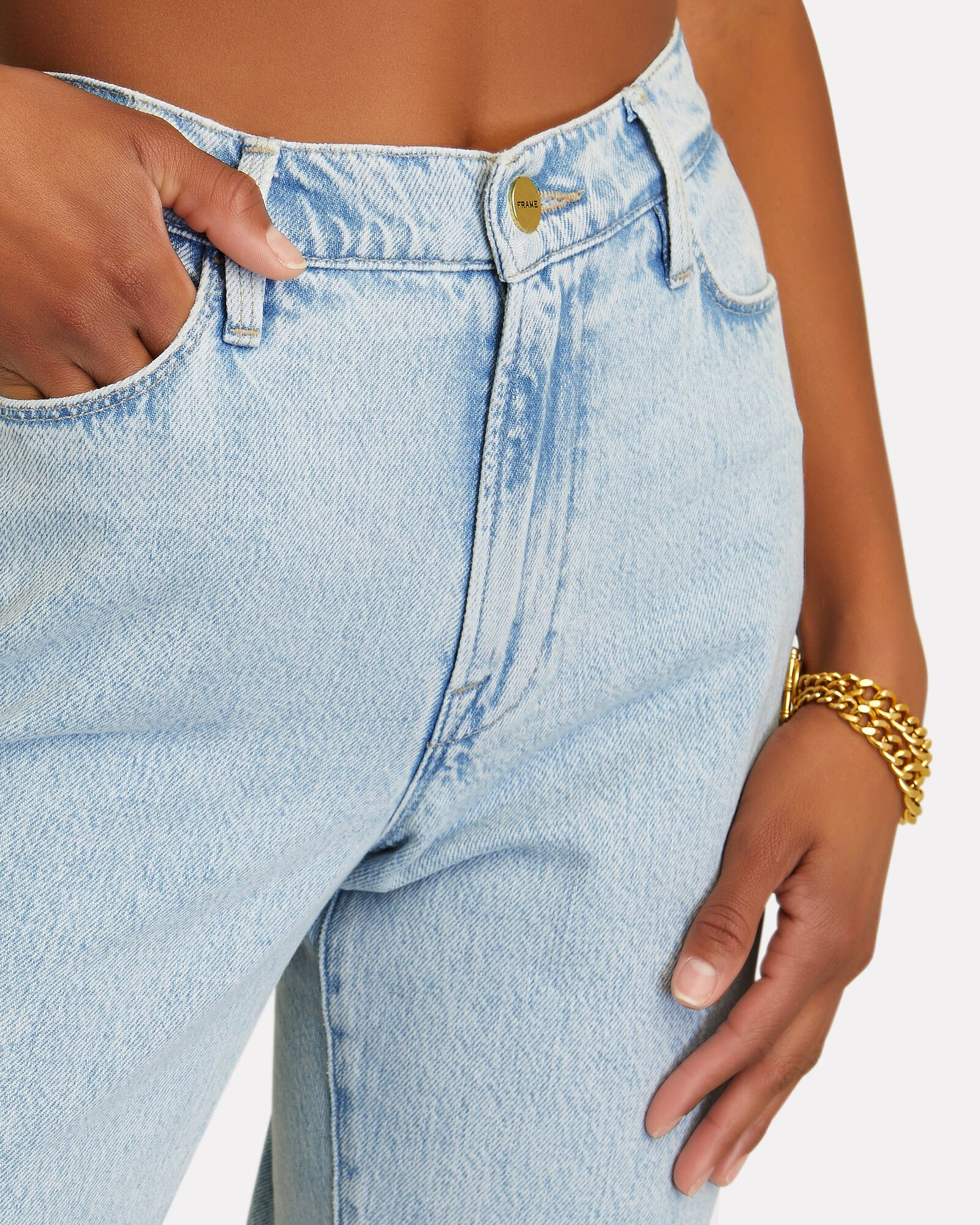 Le High Straight Jeans, WHISPER, hi-res