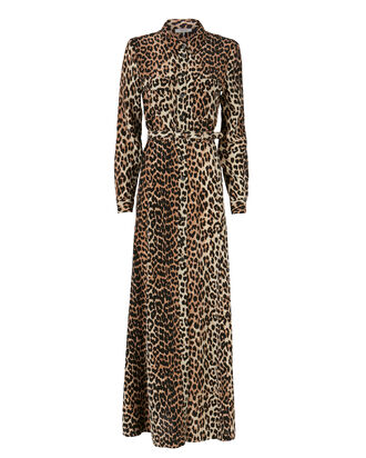 Fayette Animal Print Belted Dress, PRINT, hi-res