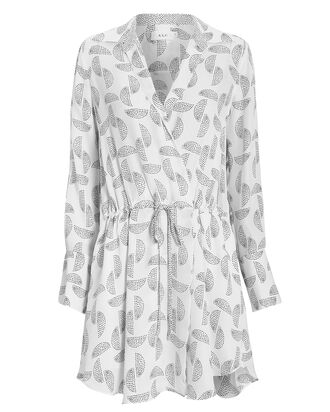 Isobel Printed Shirt Dress, WHITE/BLACK, hi-res
