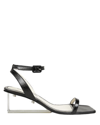 Alyssa Clear Heel Sandals, BLACK, hi-res