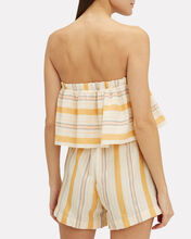 Zeritu Striped Cotton Romper, YELLOW, hi-res