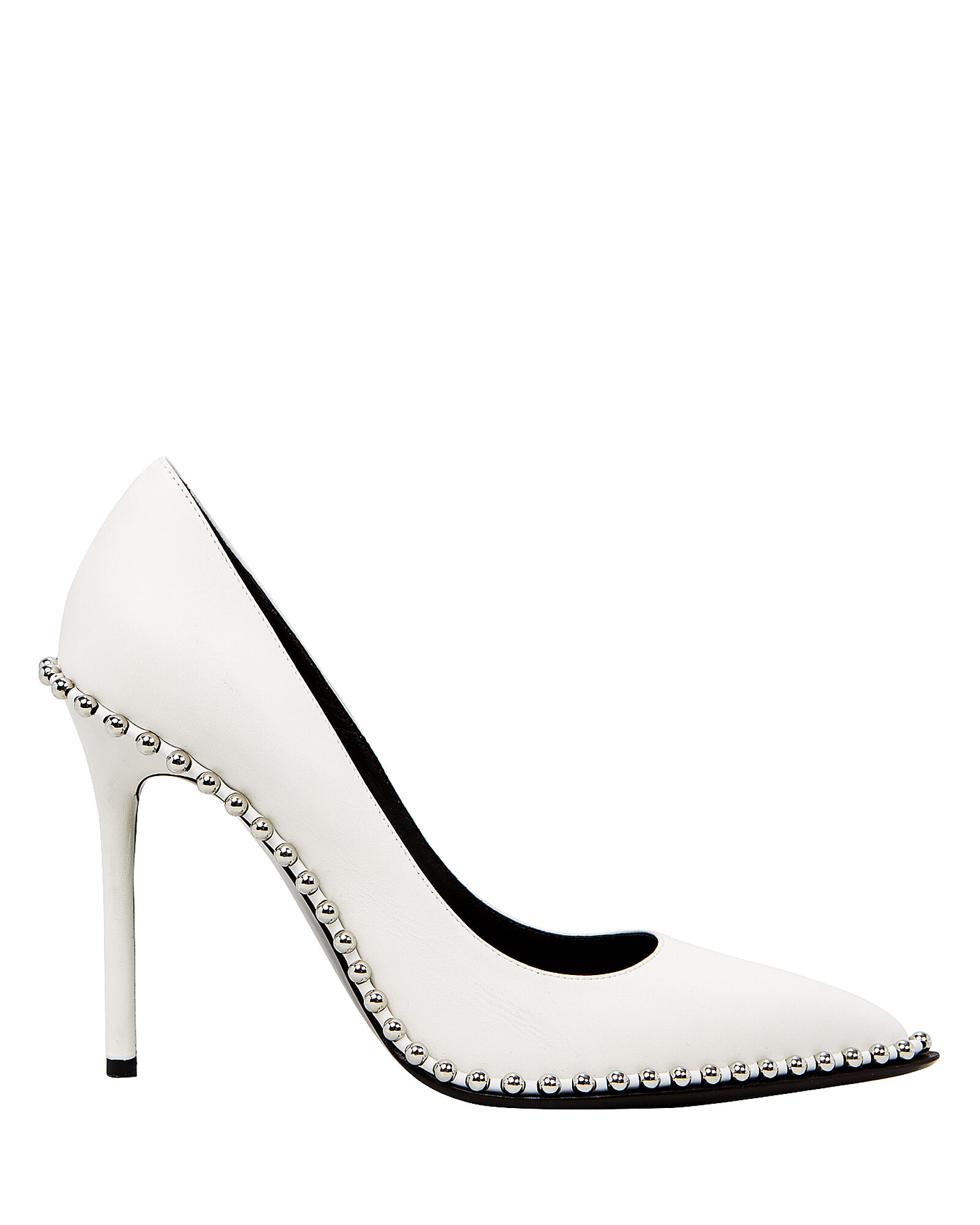 Rie Studded Pumps, WHITE, hi-res