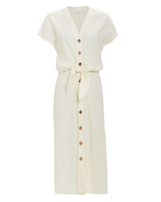 Giani Midi Dress, WHITE, hi-res