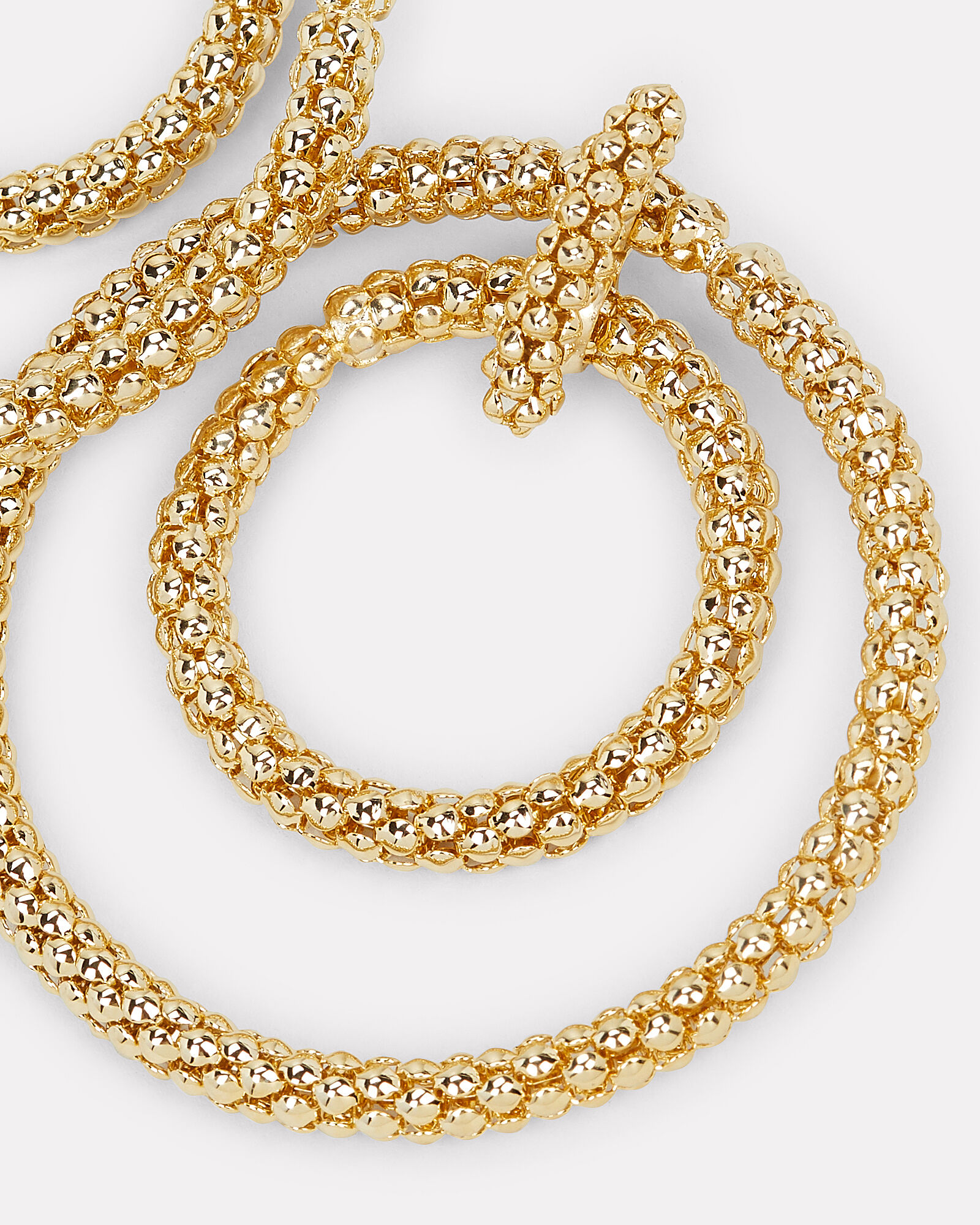 Onore Beaded Gold-tone Hoops, GOLD, hi-res
