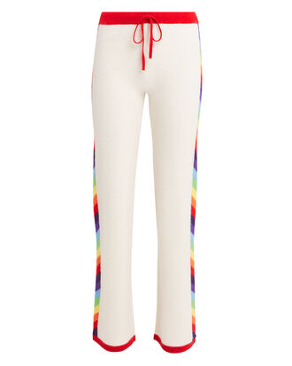 Nave Rainbow Side Cashmere Pants, IVORY/RAINBOW, hi-res