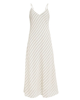 Striped Bias Slip Dress, IVORY/STRIPES, hi-res