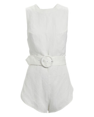 Laney Sleeveless Romper, WHITE, hi-res