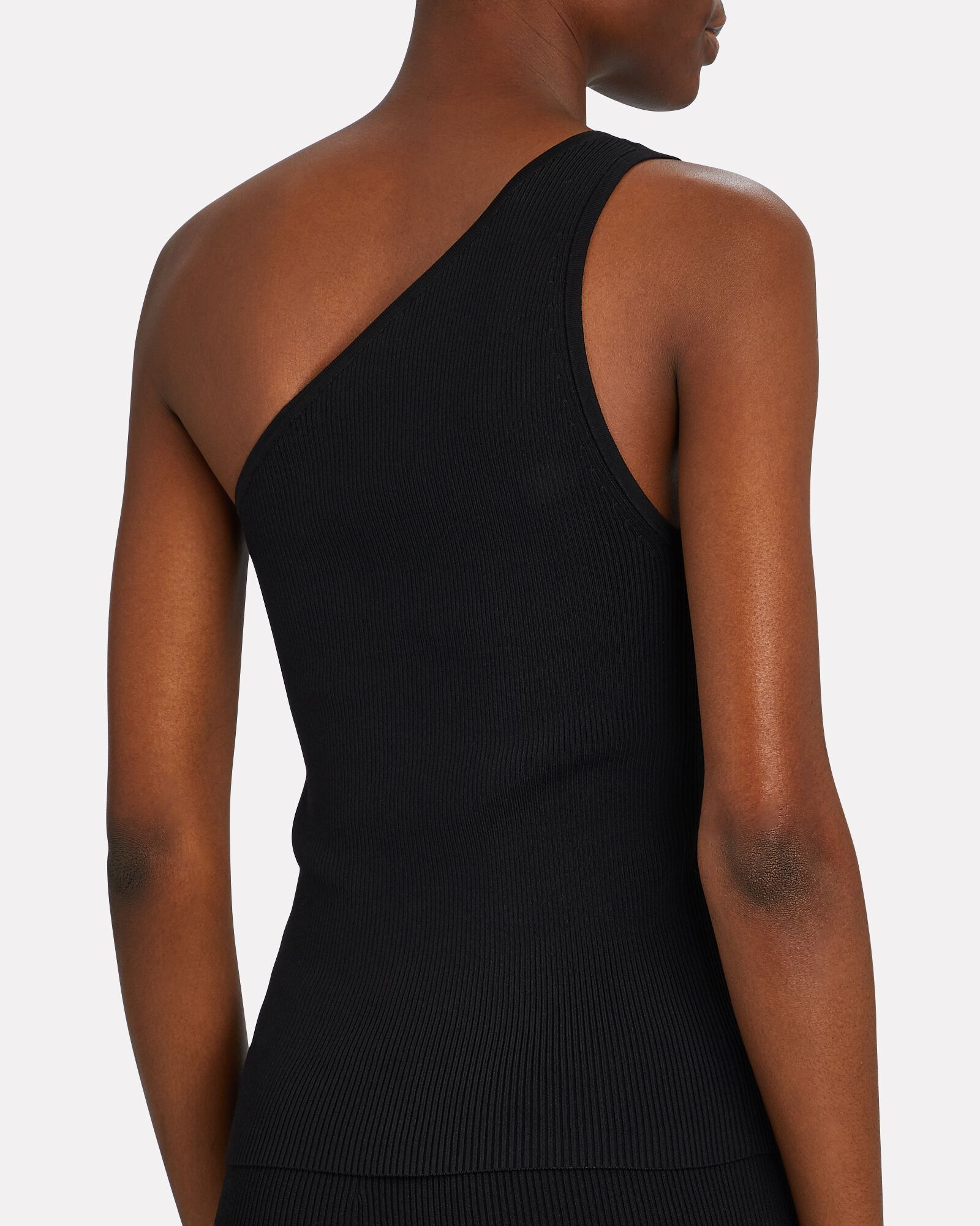 Miranda One-Shoulder Tank Top, BLACK, hi-res