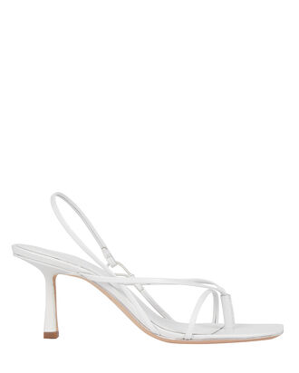 2.42 Leather Strappy Sandals, WHITE, hi-res