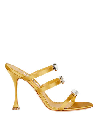 Nudosa 105 Satin Sandals, GOLD, hi-res
