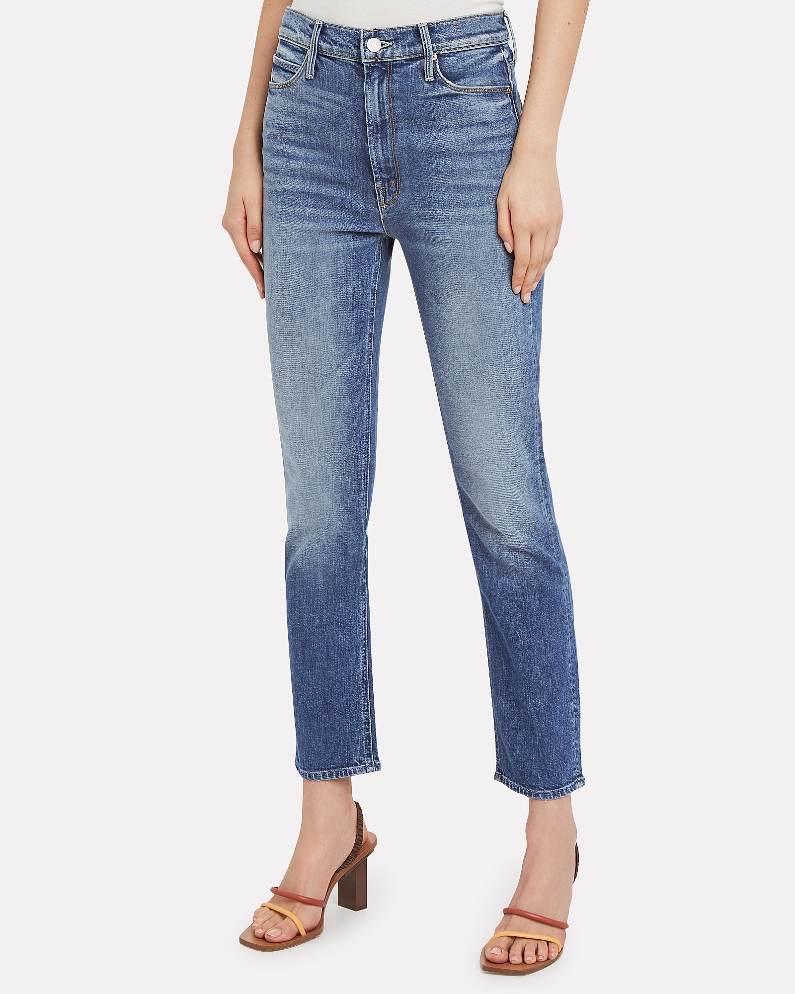 The Dazzler Slim Straight Leg Jeans, MID-BLUE DENIM, hi-res