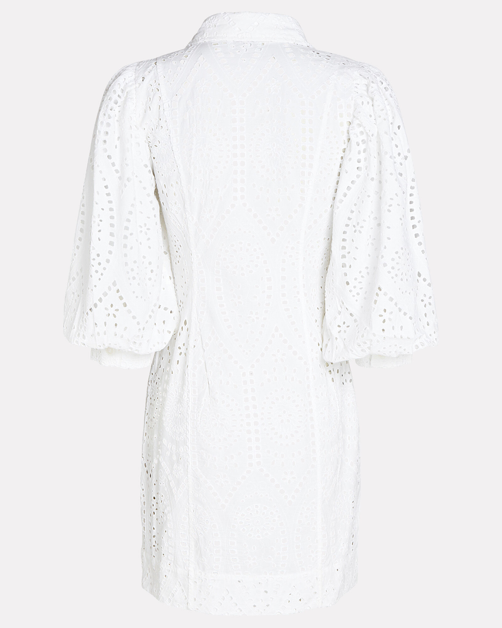Broderie Anglaise Shirt Dress, WHITE, hi-res