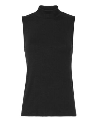 Thea Mock Neck Tank Top, BLACK, hi-res