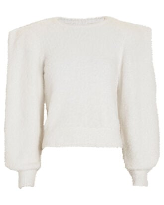 Carina Structured Crewneck Sweater, IVORY, hi-res