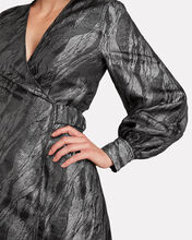 Satin Brocade Mini Dress, SILVER, hi-res