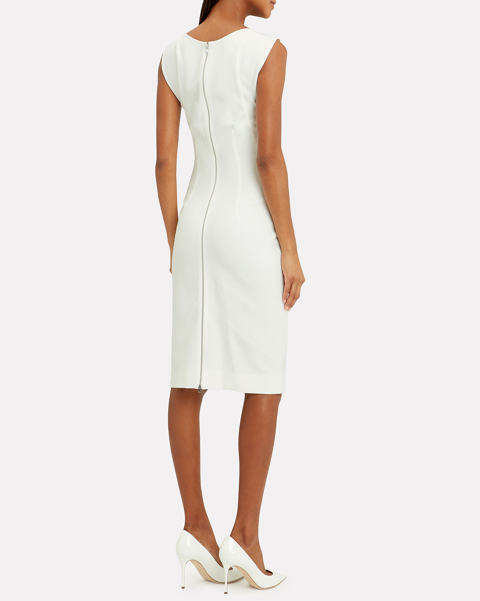 Tailored Midi Dress, IVORY, hi-res