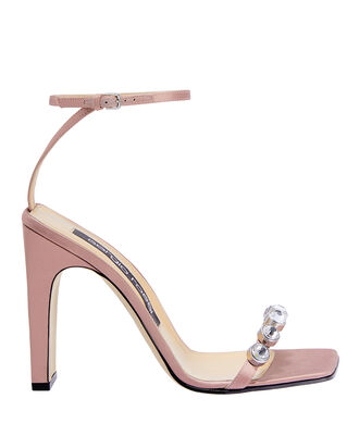Crystal Toe Blush High Sandals, PINK, hi-res