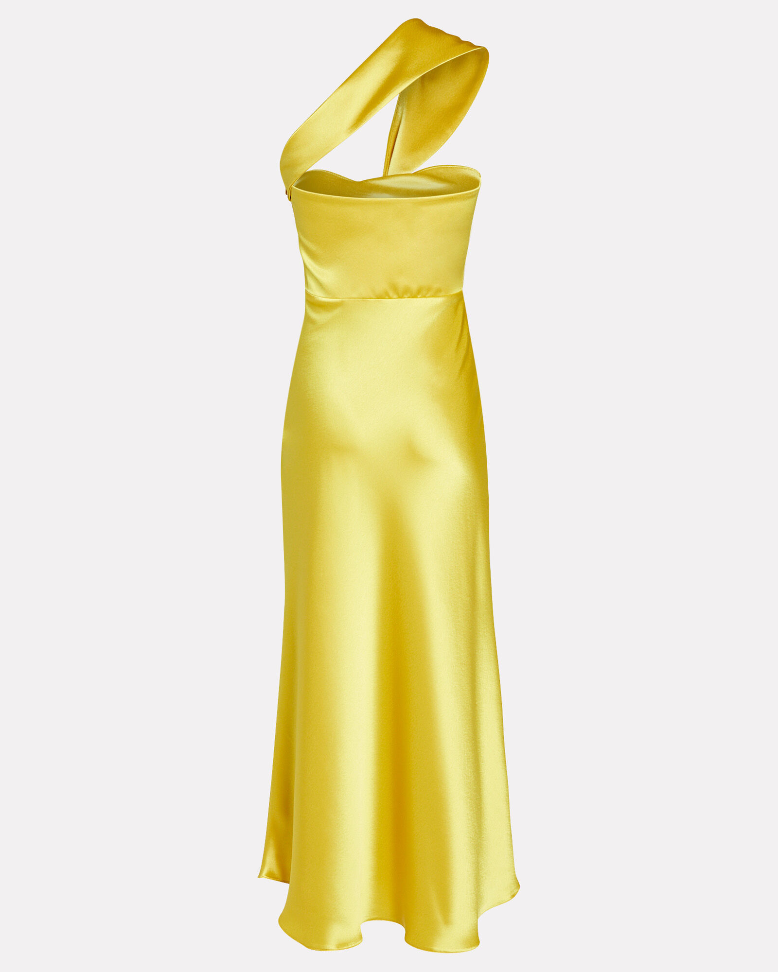 Tangier Twisted Midi Dress, YELLOW, hi-res