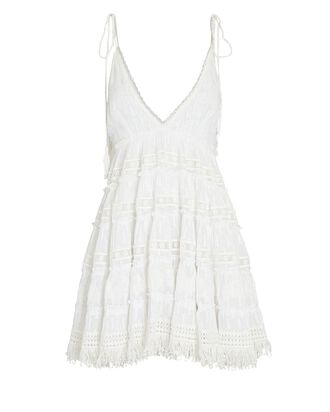 Sleeveless Fil Coupé Mini Dress, IVORY, hi-res