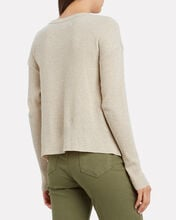 Cotton-Cashmere Thermal Top, OATMEAL, hi-res