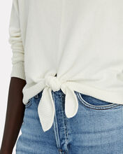 Logan Cashmere Tie-Front Sweater, IVORY, hi-res