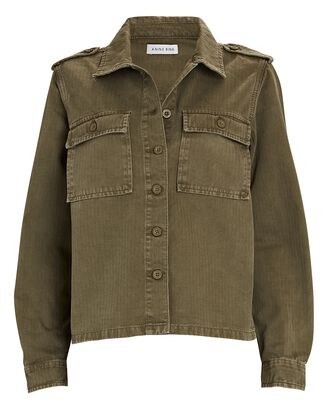 Cameron Cotton Button-Down Shirt, OLIVE, hi-res