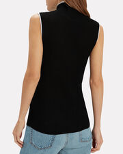 Contrast Trim Turtleneck, BLACK/WHITE, hi-res
