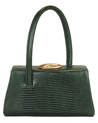 Baby Boss Lizard-Embossed Leather Bag, GREEN, hi-res