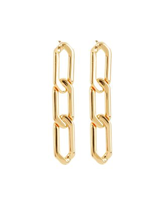 The Edede Chain Drop Earrings, GOLD, hi-res