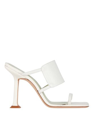 Gigi Leather Slide Sandals, IVORY, hi-res