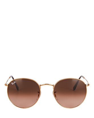 Round Wire Sunglasses, BROWN, hi-res