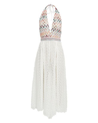 Chevron Halter Knit Jumpsuit, WHITE/RAINBOW WAVE, hi-res