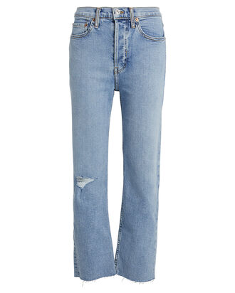 High-Rise Stove Pipe Jeans, CLOUDY BLUE DENIM, hi-res