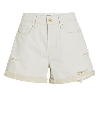 Le Brigette Denim Cut-Off Shorts, AU NATURAL, hi-res