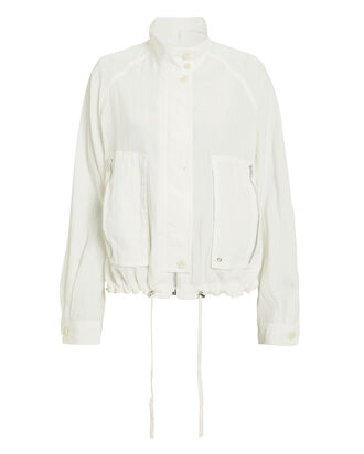 Parachute Short Trench Jacket, WHITE, hi-res